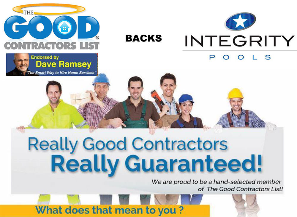Weve Made The Good Contractors List Integrity Pools